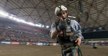 Rookie Gage Gay Rides Red Dingo at the Tacoma Dome