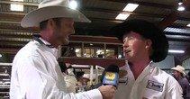 Clint Summers Winning Heeler at George Strait Team Roping Classic
