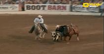 K.C. Jones Wins Steer Wrestling at CNR