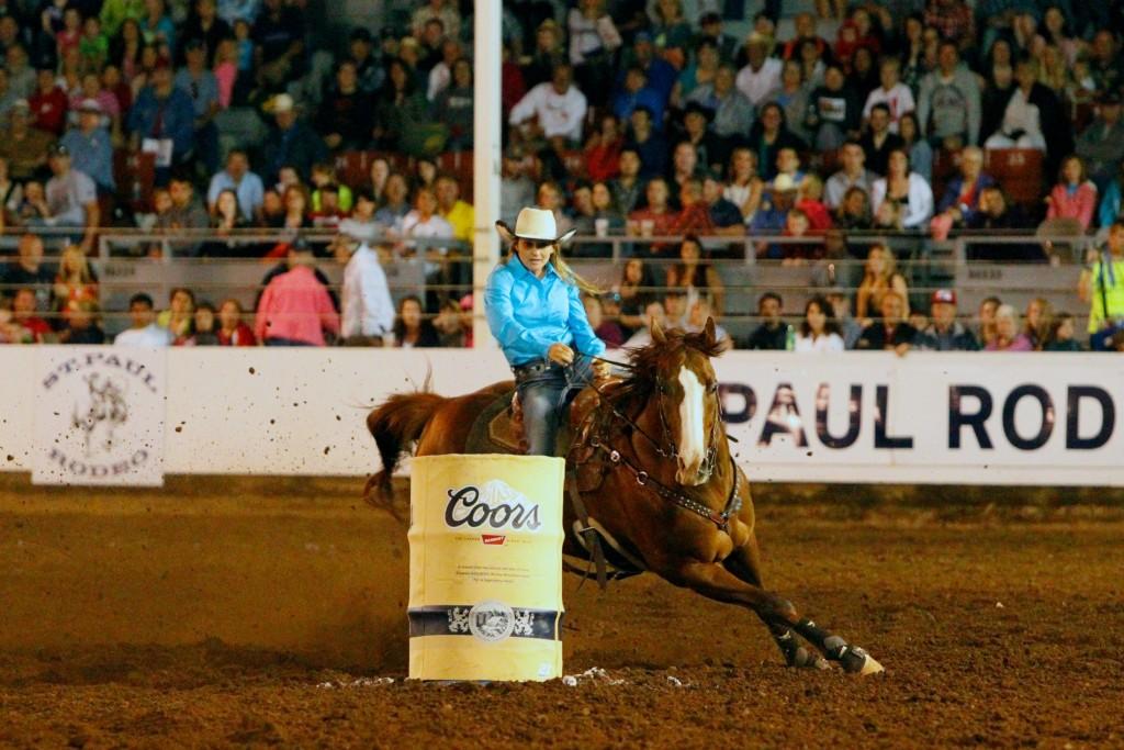 Carlee Pierce barrel racing st paul 2014