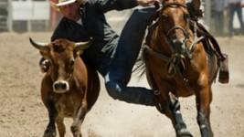 Blake Knowles Wrestles Lead at Cheyenne Frontier Days