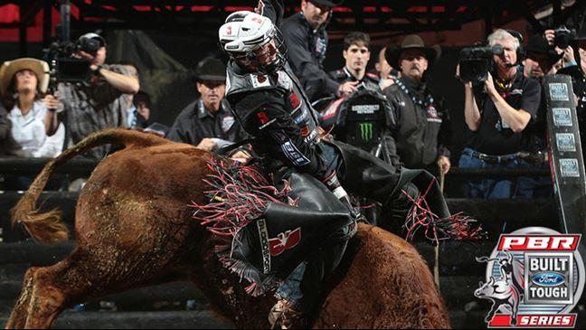 Cooper Davis rides Mortimer in Anaheim, California.