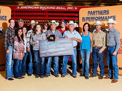 #407 Buffalo Scott from TBR Bucking Bulls wins the American Heritage Futurity in Duncan, OK on June 11, 2016