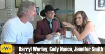 PBR Bull Rider Cody Nance with Jennifer Smith at Darryl Worley's Favorite Breakfast Spot
