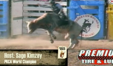Sage Kimzey Hosts Thursday Bull Riding at 2016 Pendleton Round-Up
