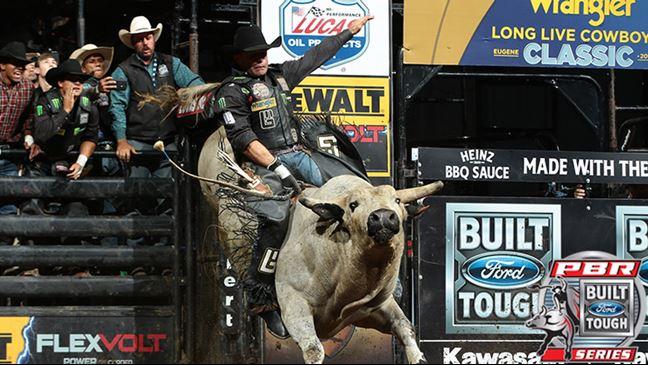Guilhereme Marchi was the winner last year in Idaho. Photo: Andy Watson / BullStockMedia.com