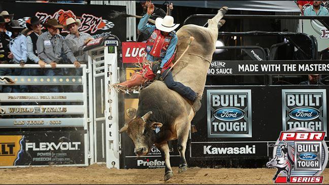 SweetPro's Bruiser is the reigning World Champion Bull. Photo: Andy Watson / BullstockMedia.com.