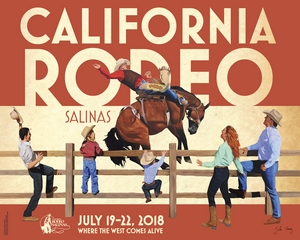 California Rodeo Salinas Unveils 2018 Commemorative Poster