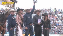 Steer Wrestler Hunter Cure Makes it a Reno Trifecta
