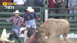 Reno Rodeo Friday Bullfighter Highlights