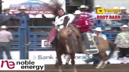 Tim O'Connell takes 2018 Greeley Stampede Bareback Riding