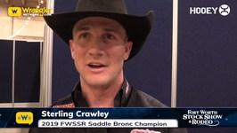 Sterling Crawley Wins 2019 FWSSR Saddle Bronc Riding Title