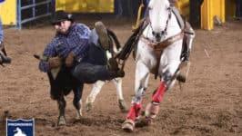 Wrangler NFR Steer Wrestlers Talley, Parrot Out Injured