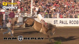 Biglow Takes the Lead in Bareback Broncs