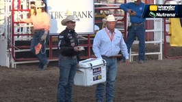 Dakota Eldridge Wins Steer Wrestling at Greeley Stampede