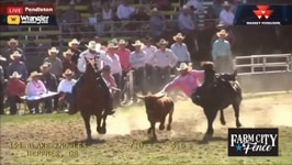 Blake Knowles Steals Thursday Steer Wrestling at Pendleton Round-Up
