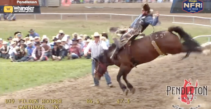 Tilden Hooper Wins the Bareback Riding Championship in Pendleton