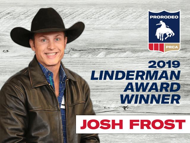 Josh Frost Wins 2019 Linderman Award
