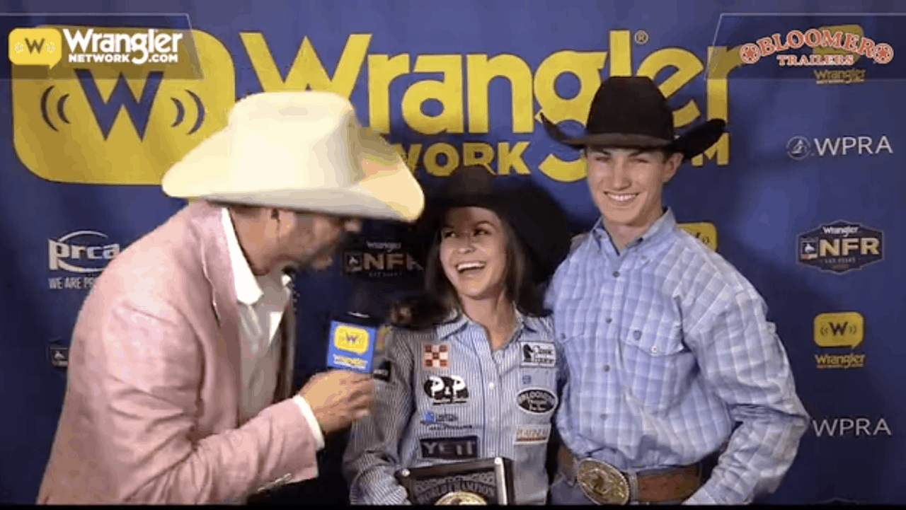 Bloomer Trailers Wnfr Barrels Hailey Kinsel Secures Her