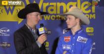 Dawson Hay Wins Round 6 of Saddle Bronc Riding