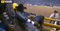 Tilden Hooper Ties for Round 6 of Bareback Riding