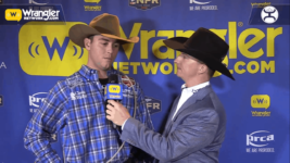 Tyler Milligan Wins Round 7 of Tie-Down Roping
