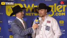 Stetson Jorgensen Steals Round 7 of Steer Wrestling