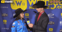 Bloomer Trailers WNFR Barrels: Hailey Kinsel Lockwood Wins Round 8 of Barrel Racing