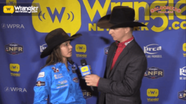 Bloomer Trailers WNFR Barrels: Hailey Kinsel Lockwood Wins Round 8 of Barrel Racing