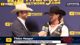 2020 FWSSR – Tilden Hooper Bareback Riding Champion