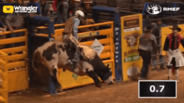 2020 Dixie National Rodeo – Creek Young Bull Riding 86.5