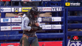TB3 Gets on the Board in the Bull Riding