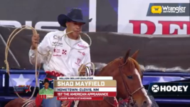 Shad Mayfield Gets Into the Money in the Tie-Down