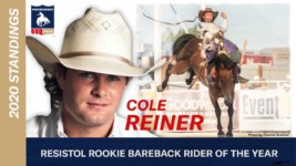 Bareback Riding Rookie of the Year Cole Reiner Qualifies for Wrangler NFR
