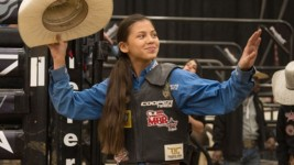 Knight Competing at Mini Bull Riders' Finals to show that 'girls can do anything'