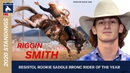 Riggin Smith Tops Saddle Bronc Riding Rookie Standings