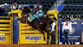 Aus Earns 2nd-Round Win at Wrangler NFR