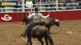 Rusty Wright Wins Tuesday Night Saddle Bronc Riding at San Antonio Rodeo