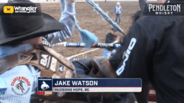 Canadians Match Up for the Lead in Saddle Bronc Riding in Clovis