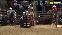 Egusquiza & Graves Turn in a 3.86 in Team Roping at the WCRA Event in Texas
